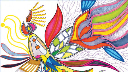 Healing Hearts coloring book by Manwol