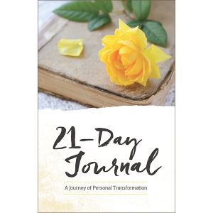 21 Day Journal, a journey of personal transformation book on Best Life Media