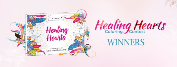 Healing hearts coloring contest winners on Best Life Media