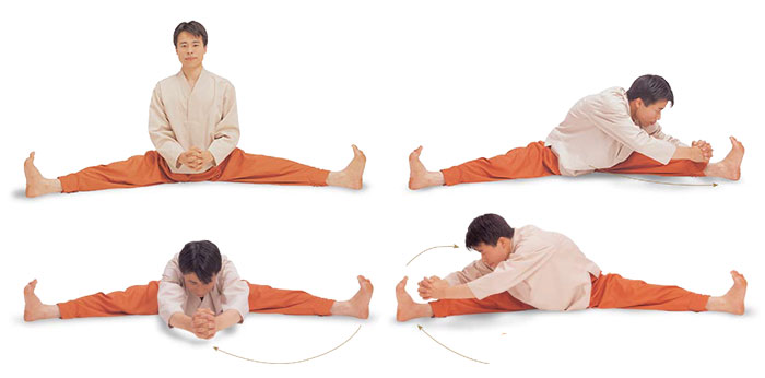 meridian exercise - Ilchi Lee - half moon straddle