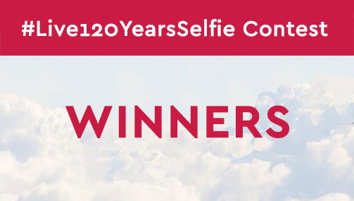 Winners of the #Live120YearsSelfie Contest