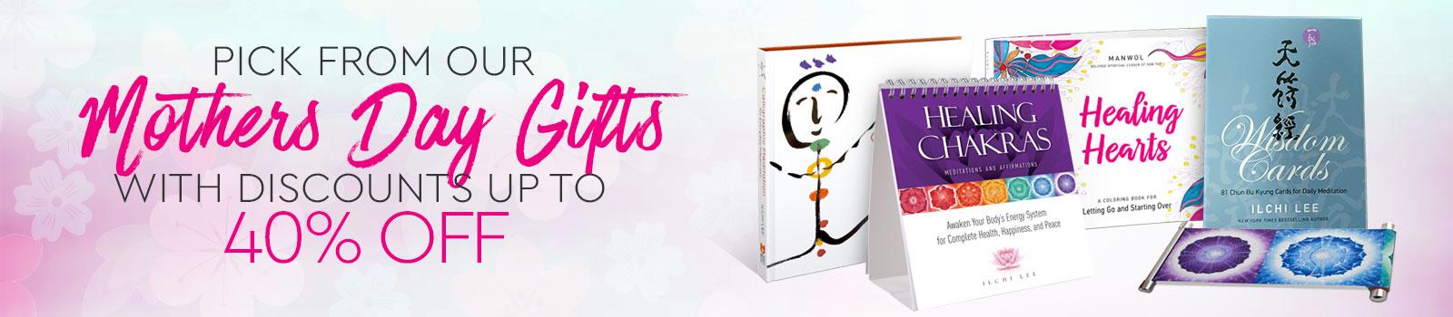 mother's day sale - Ilchi Lee books, Ilchi Lee chakra, essential oil