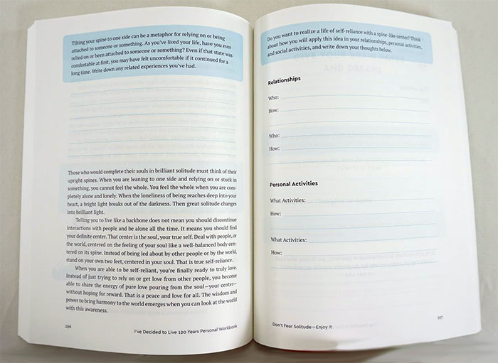 Ilchi Lee Book - I've Decided to Live 120 Years Personal Workbook Interior 1