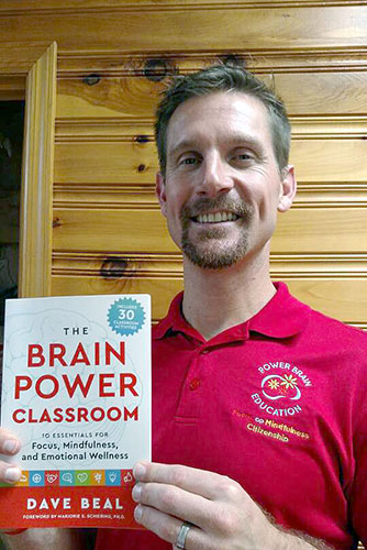 Author Dave Beal with The Brain Power Classroom