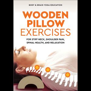 Wooden Pillow acupressure massage book