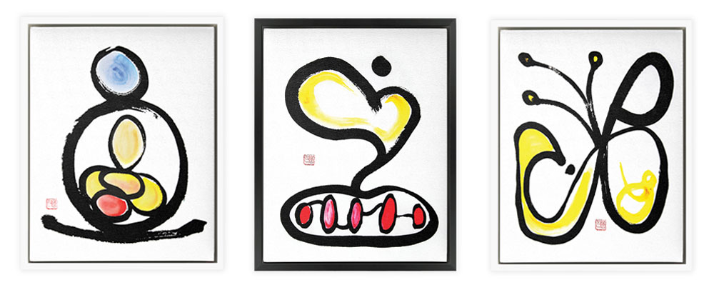 3 Fortune Talisman Framed Paintings